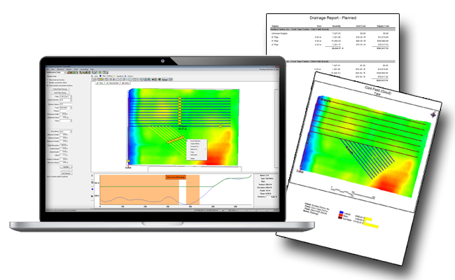 Farm drainage software to improve surface and subsurface drainage