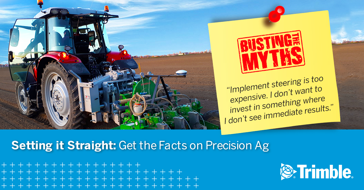 Tractor with myth about precision technology